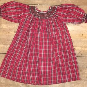 Strasburg smocked Christmas holiday dress 18 month